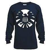 Avengers Night S.H.I.E.L.D. Blue Long Sleeve T-Shirt