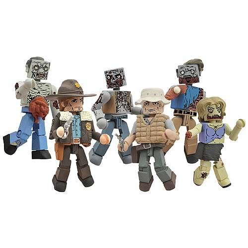 Walking Dead Minimates Series 1 Mini-Figure 2-Pack Case