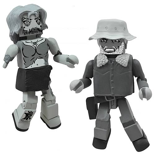 Walking Dead Halloween Minimates Black and White 2-Pack