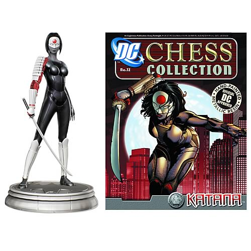 DC Superhero Katana Pawn Chess Piece with Collector Magazine