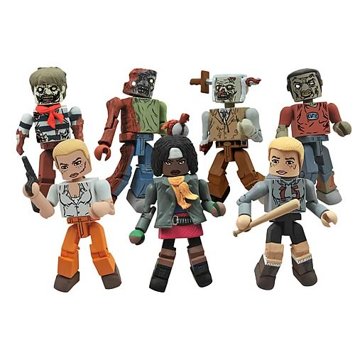 Walking Dead Minimates Series 2 Mini-Figures Set