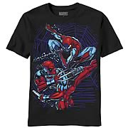 Deadpool and Spider-Man Dual Danger Black T-Shirt