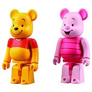Winnie the Pooh and Piglet Bearbrick 2-Pack