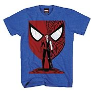 Spider-Man Vector Mask Blue Heather T-Shirt