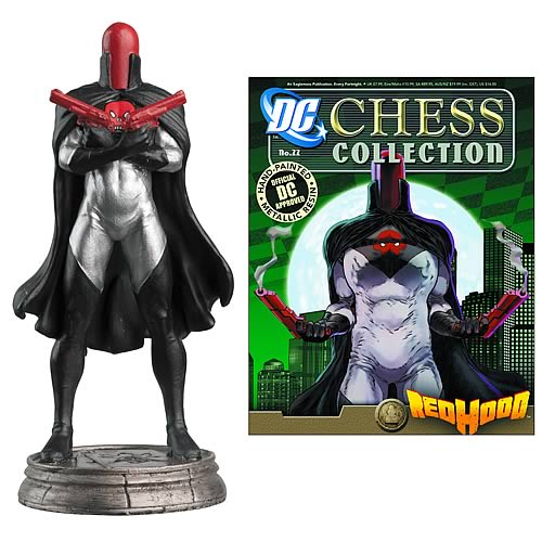 DC Superhero Red Hood Black Pawn Chess Piece with Magazine