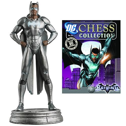 DC Superhero Batwing White Pawn Chess Piece with Magazine