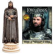 Lord of the Rings Aragorn King Chess Piece with Magazine