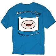 Adventure Time Finn That's So Math Blue T-Shirt