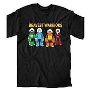 Bravest Warriors Attack Formation Black T-Shirt