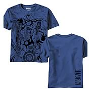 Avengers Valiants All Over Print Navy T-Shirt