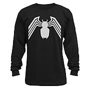 Spider-Man Venom Symbol Black Thermal Long Sleeve T-Shirt