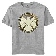 Avengers Movie Aged Shield Heather T-Shirt