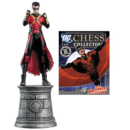 Batman Red Robin White Knight Chess Piece with Magazine