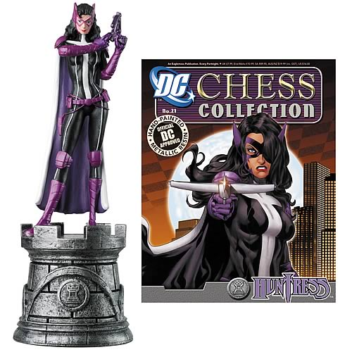 Batman Huntress White Rook Chess Piece with Magazine