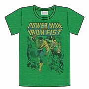 Power Man and Iron Fist Kelly Green Heather T-Shirt