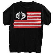 G.I. Joe Cobra Flag Black T-Shirt