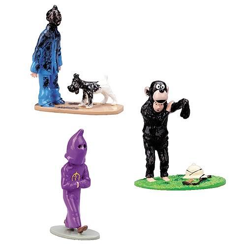 Adventures of Tintin Trio Painted Lead Figurine Mini-Statues