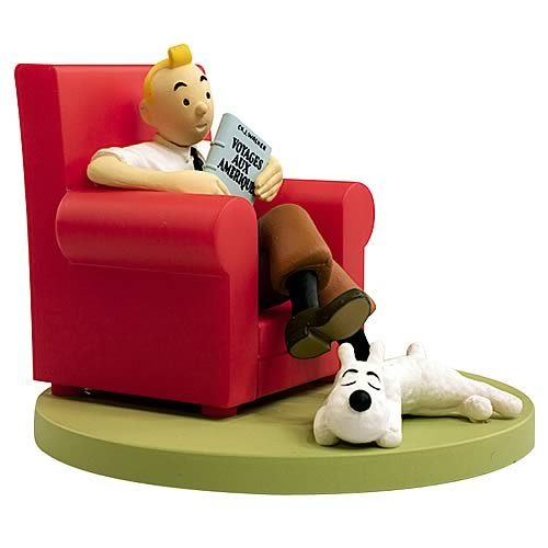 Adventures of Tintin Box Scene Tintin At Home Statue