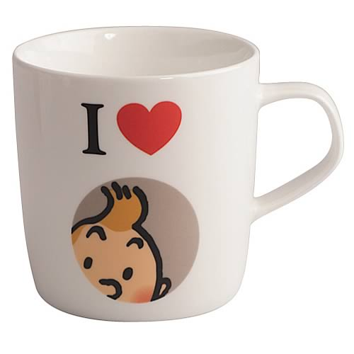 Adventures of Tintin I Love Tintin White Mug