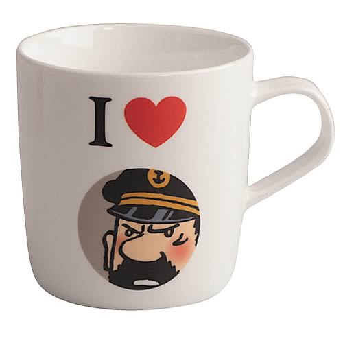 Adventures of Tintin I Love Captain Haddock White Mug