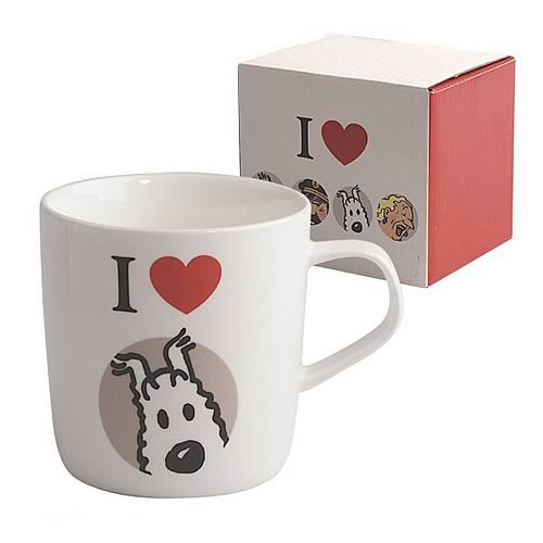 Adventures of Tintin I Love Snowy White Mug