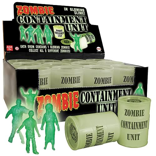 Radioactive Zombie Containment Unit with Figure Case