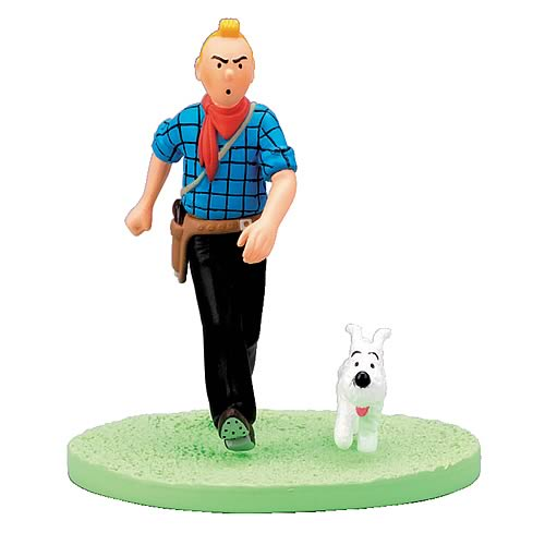 Adventures of Tintin Cowboy Tintin Box Cover Statue