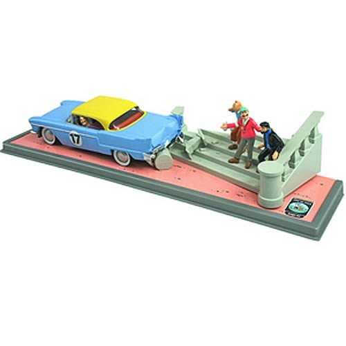 Adventures of Tintin Classic El Dorado Car Crash Statue