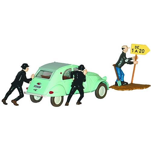 Adventures of Tintin Thompson and Thomson Citroen #1 Statue