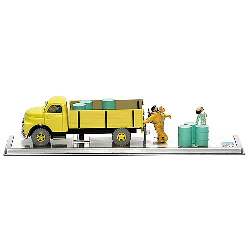 Adventures of Tintin Destination Moon Yellow Truck Statue