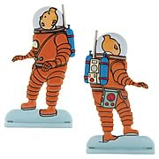 Adventures of Tintin Explorers On The Moon Statue