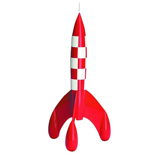 Adventures of Tintin Rocket Statue