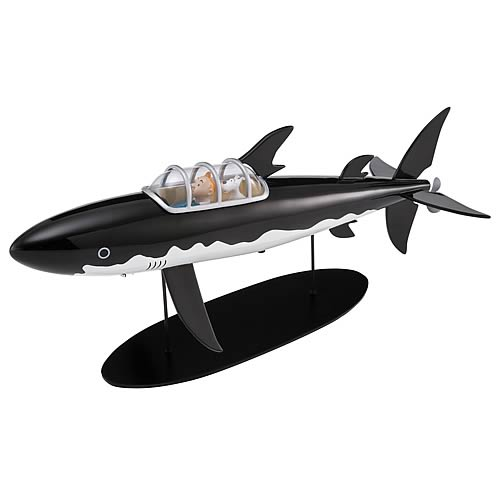 Adventures of Tintin Shark Submarine Statue
