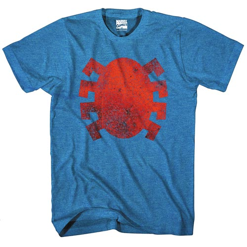 Spider-Man Dead Logo Blue Heather T-Shirt