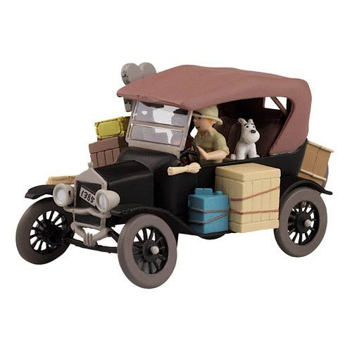 Adventures of Tintin Ford Model T 1:43 Scale Statue