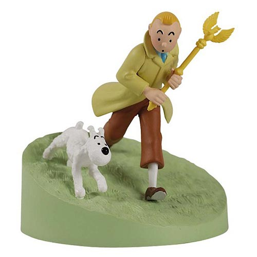 Adventures of Tintin Box Scene Tintin with Sceptre Statue