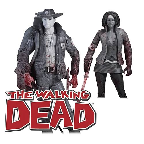 Walking Dead Comic Rick Grimes and Michonne 2-Pack