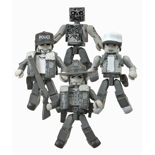 Walking Dead Days Gone Bye B&W Minimates Box SDCC Exclusive