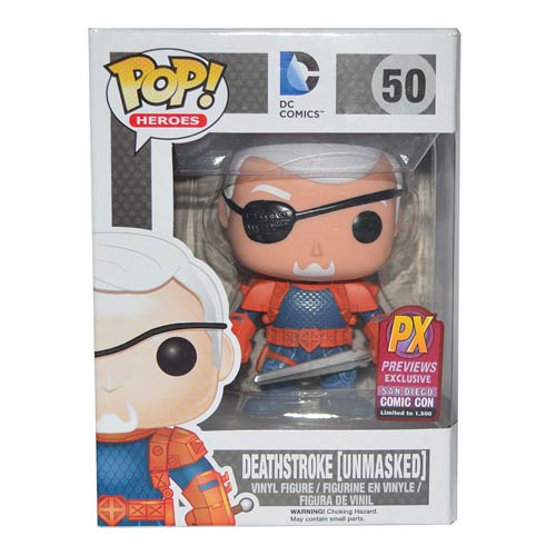 Deathstroke Unmasked Pop! Vinyl Figure SDCC 2014  Exclusive
