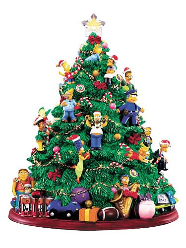 Simpsons: Lighted Christmas Tree Mini Statue