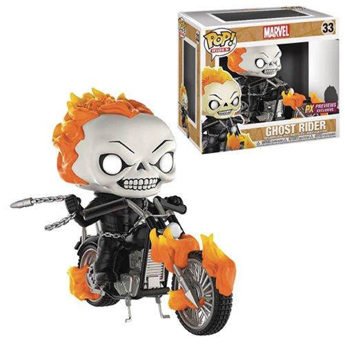 Marvel Classic Ghost Rider with Bike Pop! Vinyl Figure PX