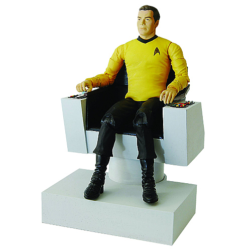 Star Trek Captain Kirk Action Figure Deluxe Electronic Chair