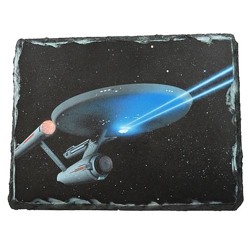 Star Trek Enterprise Stone Plate Art Plaque