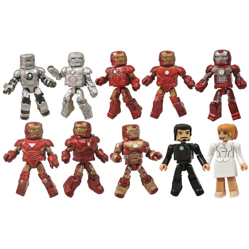 Marvel Minimates Iron Man 3 Hall of Armors 10-Pack