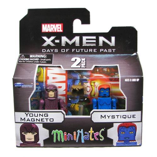 X-Men Days of Future Past Magneto and Mystique Minimates