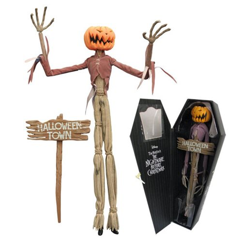 Nightmare Before Christmas Pumpkin King Jack Coffin Figure ...