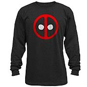 Deadpool Logo Black Long Sleeve T-Shirt