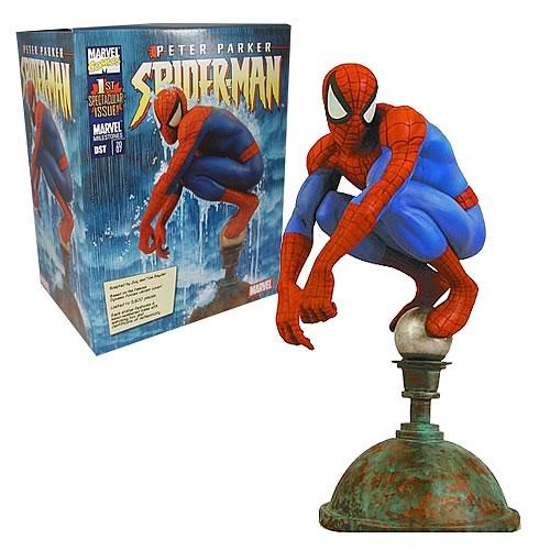Marvel Milestones Spider-Man Flagpole Statue
