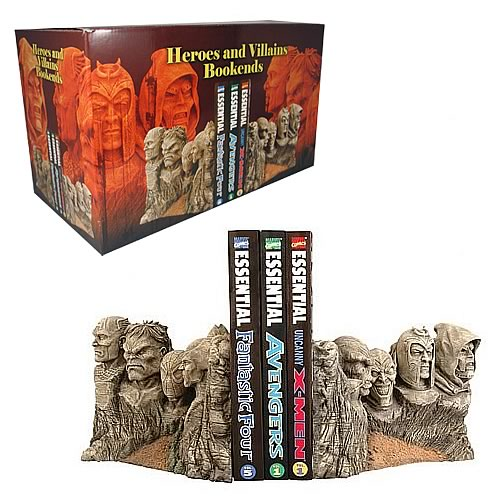 Marvel Heroes And Villains Bookends Diamond Select