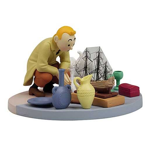 Adventures of Tintin Box Scene At The Flea Market Statue